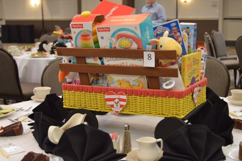 STMM employees created centerpieces for the tables. Photo by Lea Thompson.
