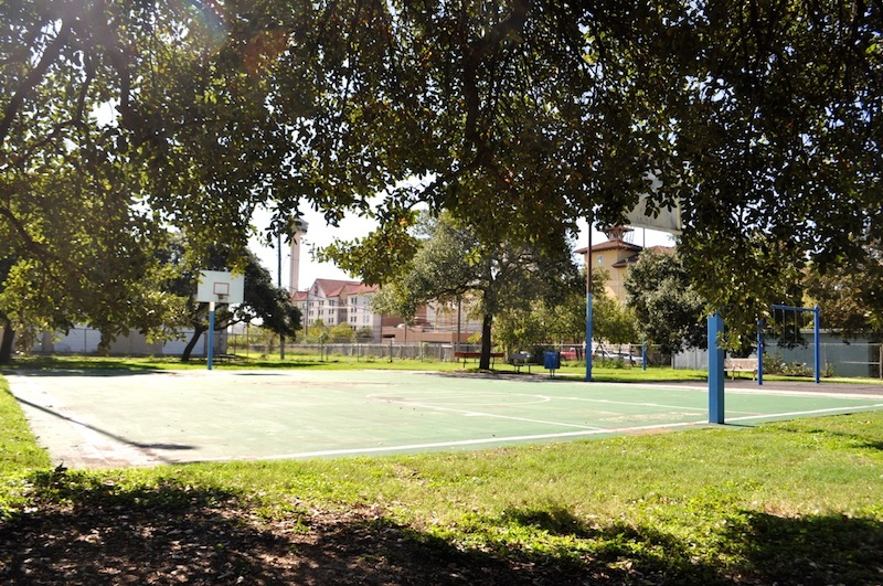 The basketball court in Healy-Murphy Park. Photo by Iris Dimmick.