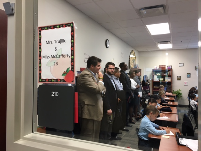 Elected officials and staff observe a class at Great Hearts Northern Oaks. Photo by Bekah McNeel