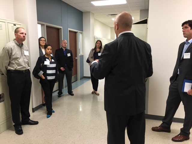 Marisa Perez (second from left) and other elected officials tour Great Hearts Northern Oaks. Photo by Bekah McNeel.