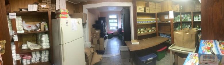 Inner City Development's emergency food pantry. Photo courtesy of Inner City Development.