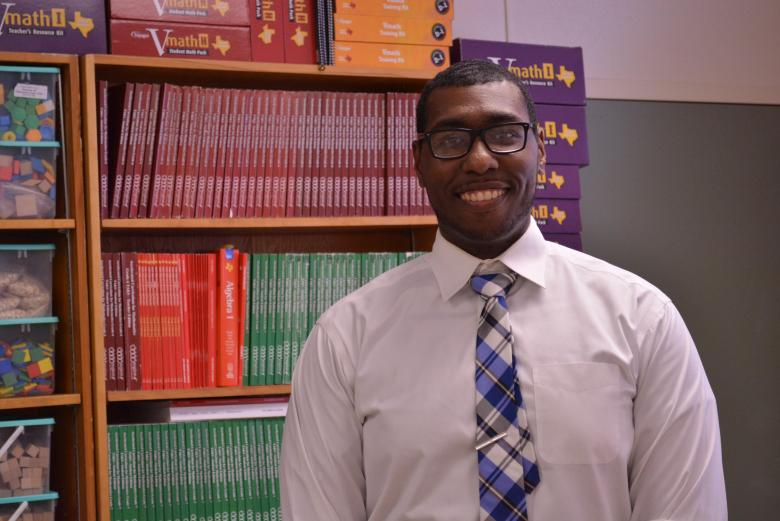 Lebon James, teacher and administrator at Sam Houston HS. Former TFA Corp member. Photo courtesy of TFA