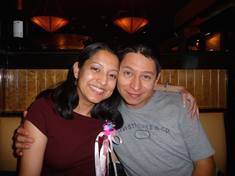 Marie (left) and Andrew Murguia had a special bond. Photo courtesy of Antonia Murguia.