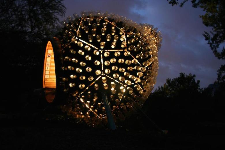 Overland Partners designed the Gourd for the San Antonio Botanical Gardens' human-sized birdhouse competition. Image courtesy of Overland Partners.