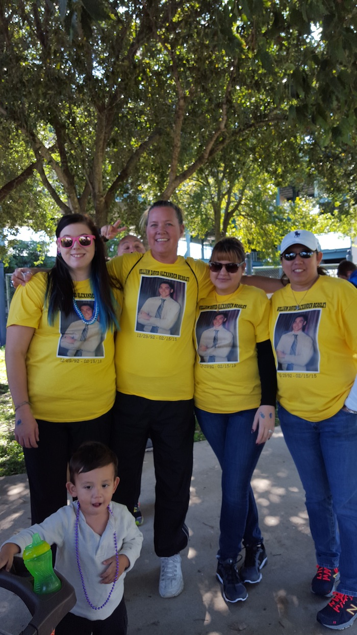 Team Beasley during the Out of the Darkness Walk for Suicide Prevention. Photo by Antonia Murguia