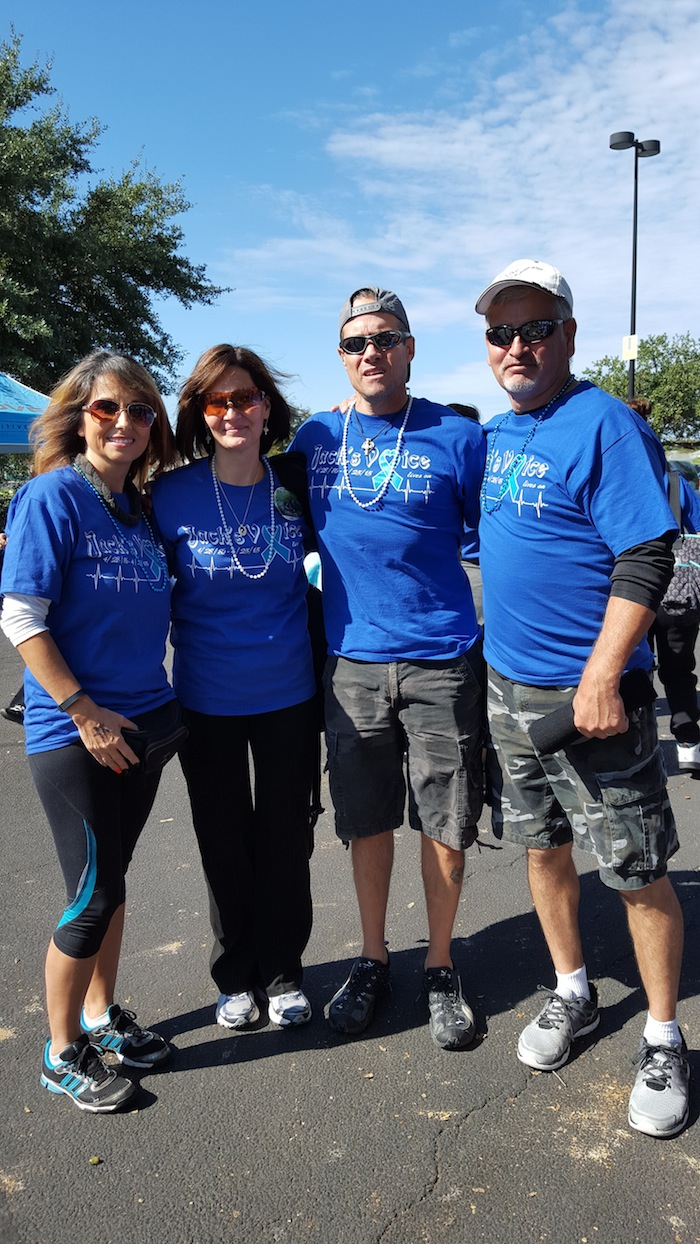 Team Bennett - Jack's Vice during the Out of the Darkness Walk for Suicide Prevention. Photo by Antonia Murguia.