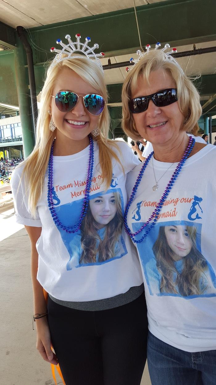 "Team Casillas' shirts read ""Missing Our Mermaid."" Photo by Antonia Murguia."