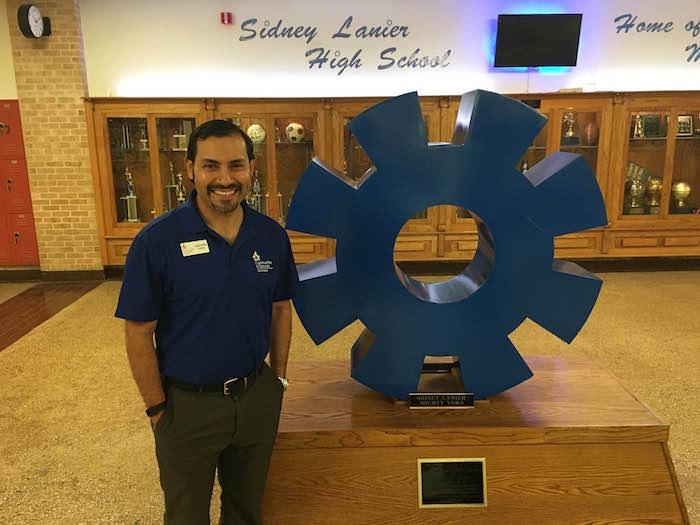 Christopher Cortez, Communities in Schools site coordinator at Lanier HS. Photo by Bekah McNeel