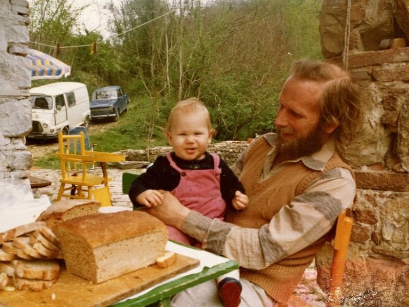 Erik and Dennis Olsen in Tuscany circa 1970. Photo courtesy Erik Olsen.