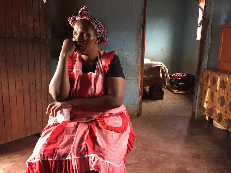 HIV, unemployment and poverty have caused much suffering in the Ufafa Valley. ARV treatment is free, but lack of money for transportation to get the ARVs is often a problem in South Africa. Photo by Casey Miller.