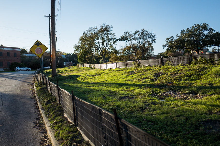 A section of the property up for development at the corner of Austin Highway and Broadway Street. Photo by Scott Ball.