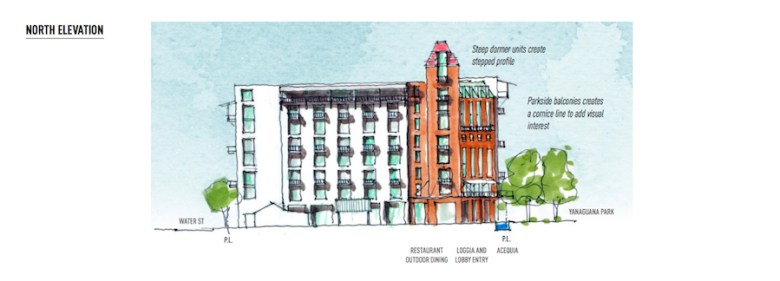 A rendering featuring the Northern view. Image courtesy of Hemisfair.
