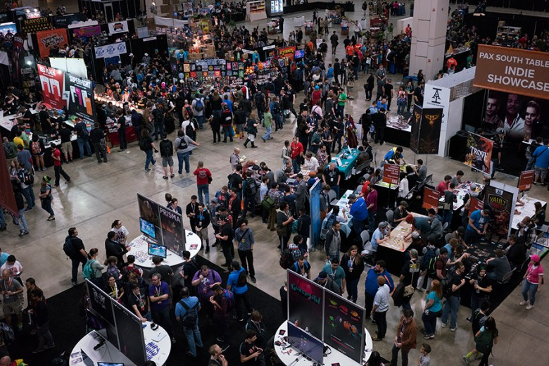 The first day alone brought thousands of people to PAX South. Photo by Kathryn Boyd-Batstone