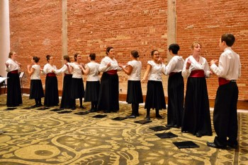 Performers with the Children's Chorus of San Antonio perform selections from American folk songs. Photo by Page Graham.