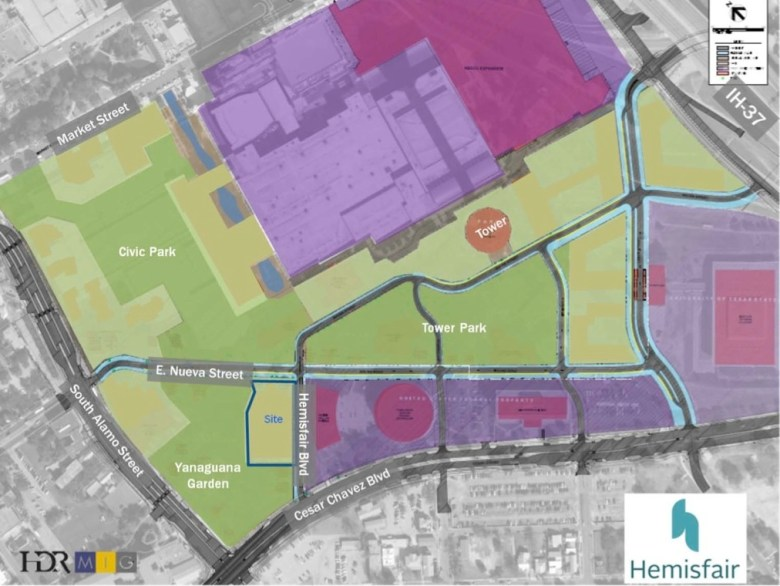 AREA Real Estate will build an apartment complex in the southwest quadrant of Hemisfair.