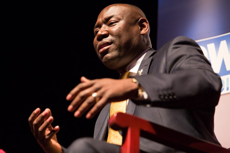 National Bar Association President Benjamin Crump gives his remarks during the symposium. Photo by Scott Ball.