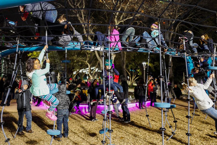 Children play in Yanagauna Gardens on New Years Eve. Photo by Scott Ball.