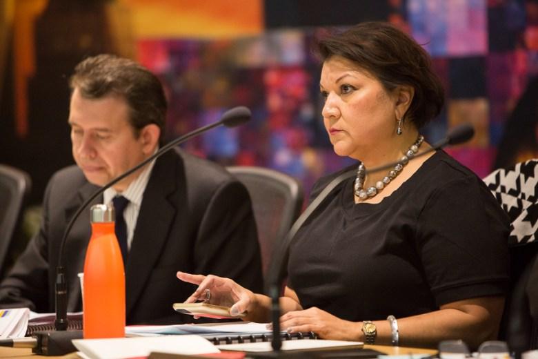 SAISD Board Secretary Debra Guerrero (D3). Photo by Scott Ball.