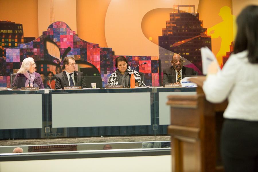The SAISD board provides questions following a presentation. Photo by Scott Ball.