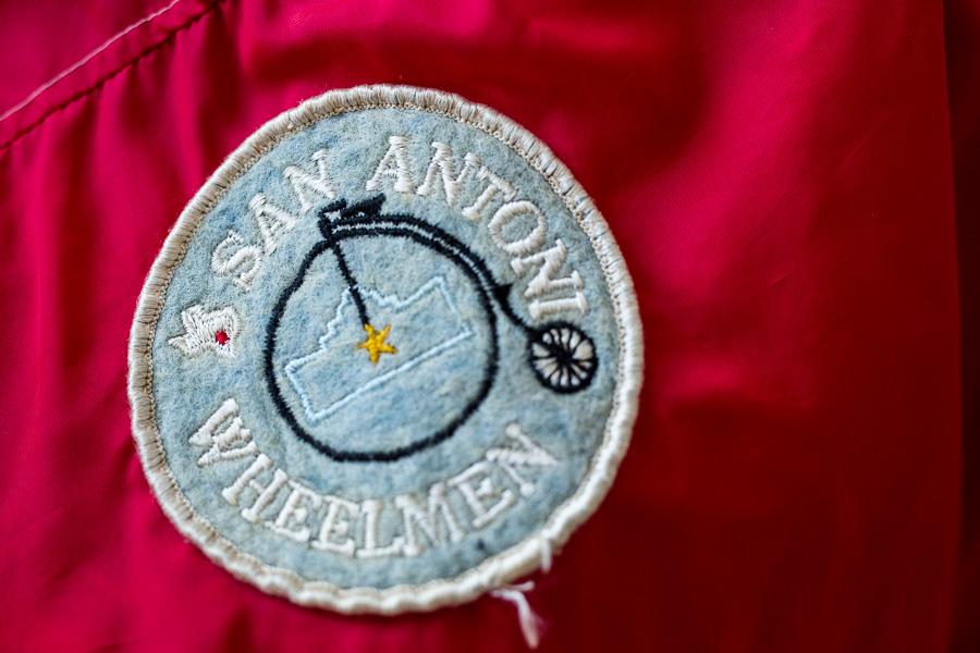 Vintage San Antonio Wheelmen patch. Photo by Scott Ball.