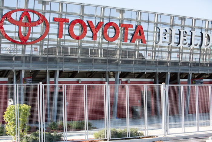 The entrance to Toyota Field. Photo by Scott Ball.