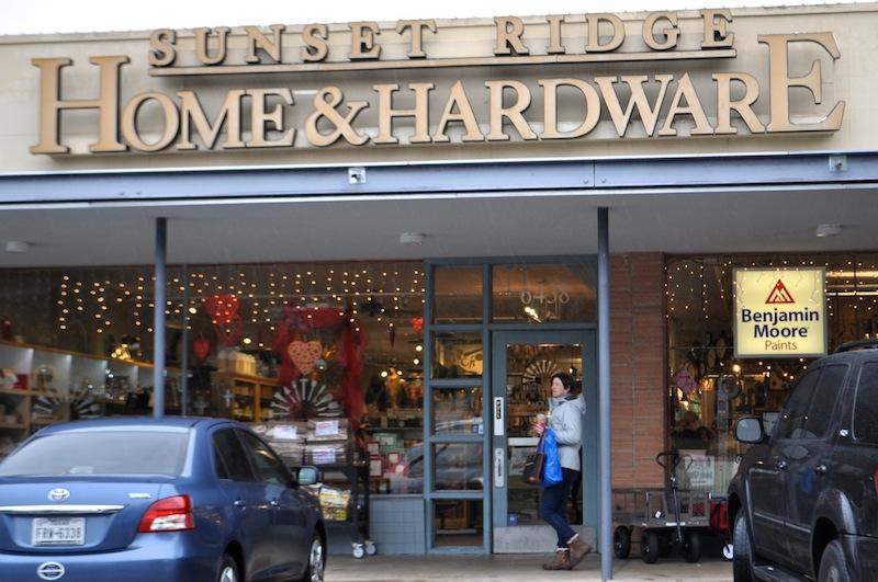 Sunset Ridge Home & Hardware shop in Alamo Heights. Photo by Iris Dimmick.