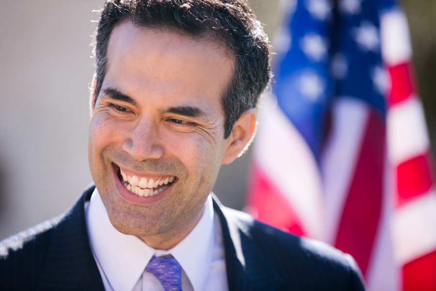 George P. Bush, Commissioner of the Texas General Land Office, spoke about the importance of Texas history. Photo by Kathryn Boyd-Batstone