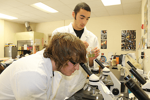Burbank IB students in the lab. Photo courtesy of SAISD.