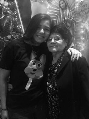Denise and  her grandmother, Carmen Hernandez. Photo courtesy of Adam Tutor