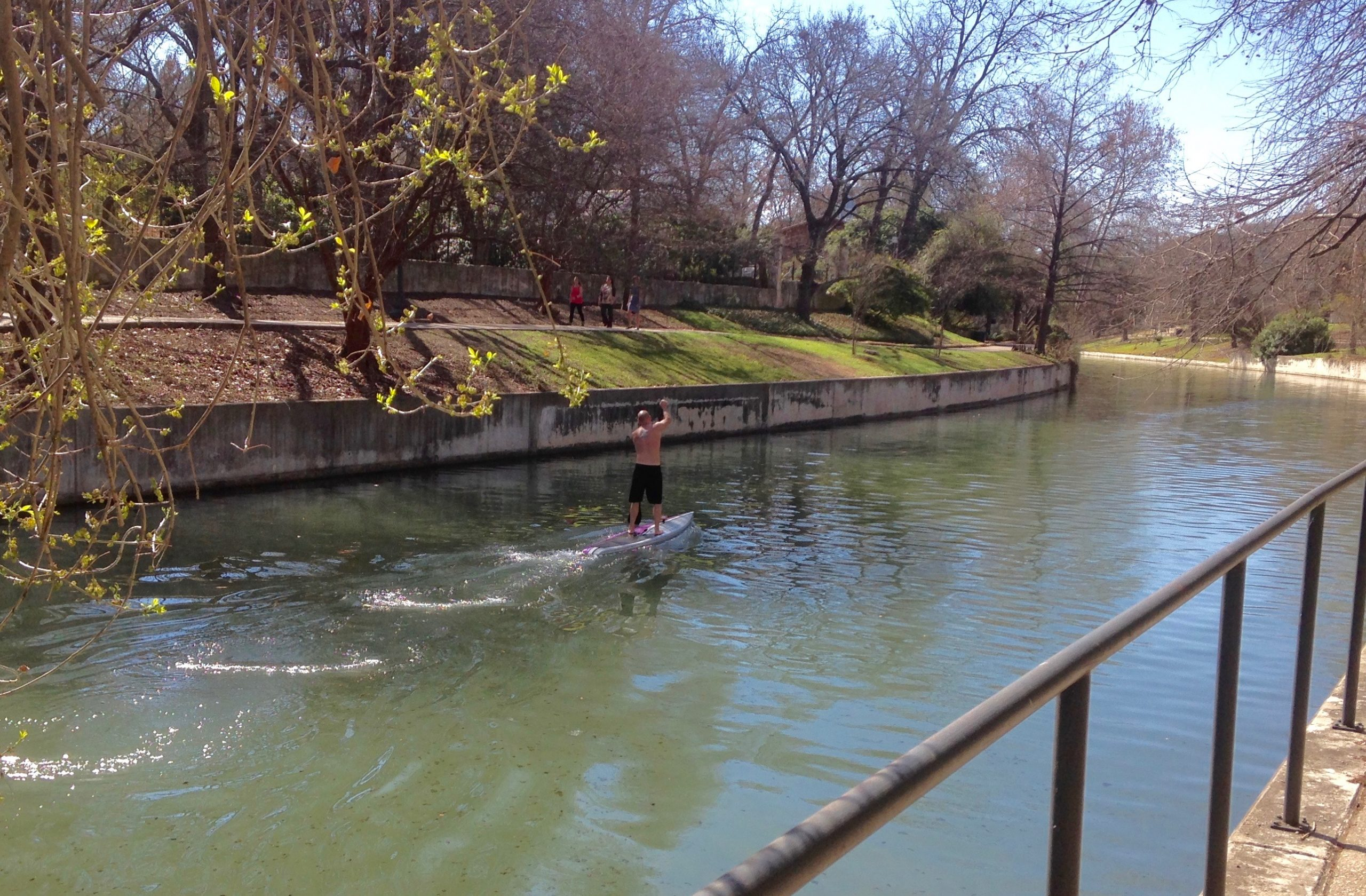 stand-up paddle boarding on the south channel