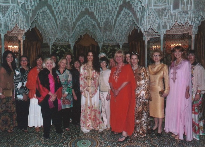 Jane Macon (fourth from left) and other members of the Texas Delegation of the International Women's Forum visit the Queen's Place in Rabat, Morocco in 2013. Photo courtesy of Jane Macon.