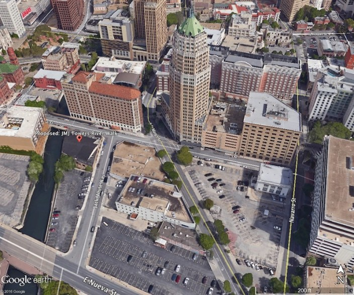 Google Earth view of the project site.