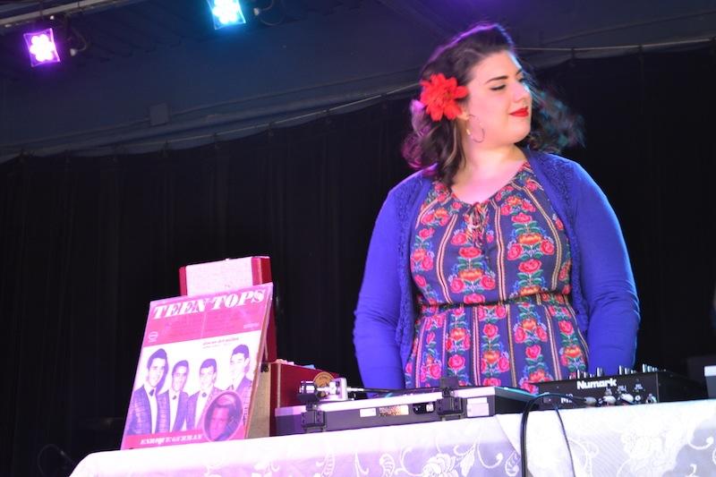 Olivia Garcia, Chulita Vinyl Club member, performs at Paper Tiger on Jan. 24, 2016. Photo by Jennifer Herrera.