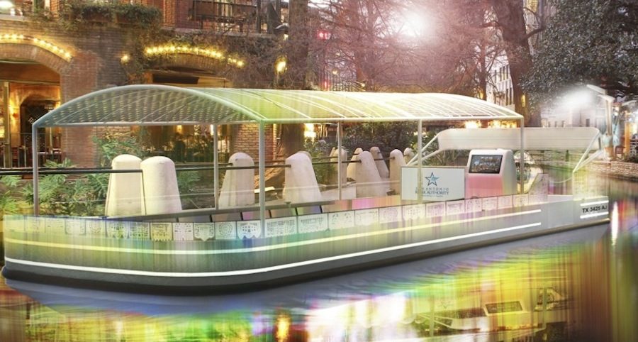One of the three finalists submitted this rendering as part of its application in the International River Barge Design Competition.