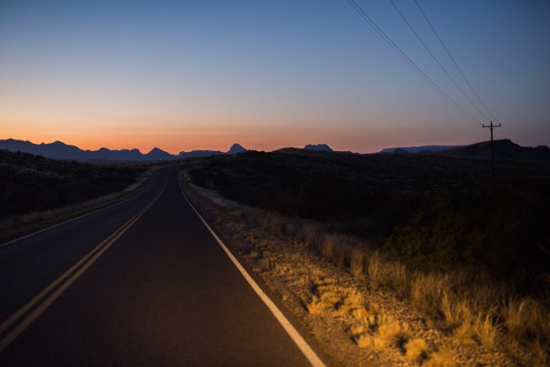 The sun sets on the western rim of Big Bend. Photo by Scott Ball.