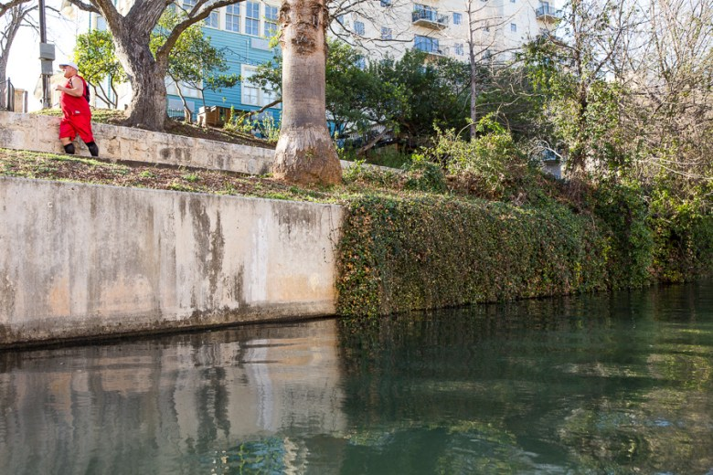 More plants cascading over the concrete walls of the channel have a softening effect.  Photo by Scott Ball