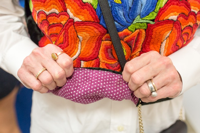 The polkadots located on the inside of Kathy's vest is the usual for this design. Photo by Scott Ball.
