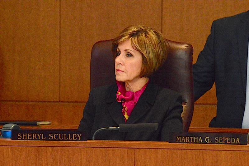 City Manager Sheryl Sculley listens to citizens during City Council on Thursday, Feb.18,2016. Photo by Lea Thompson.