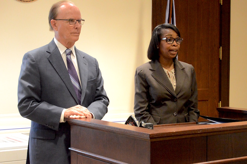 Bexar County Judge Nelson Wolff and Mayor Ivy Taylor announced the expanded summer internship program for area high school students. Photo by Lea Thompson.
