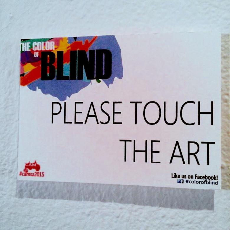 Sign for the Color of Blind Show. Courtesy Photo.