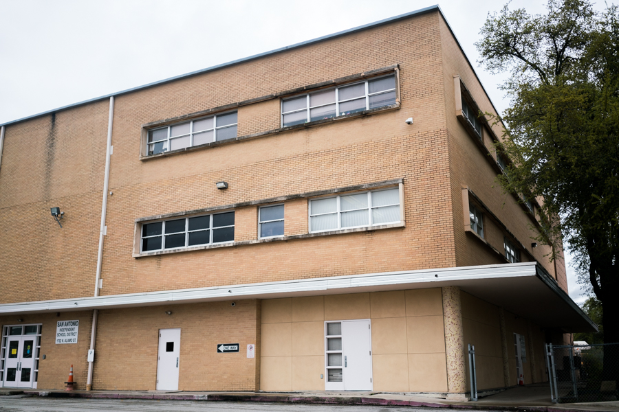 1702 N Alamo St is one under-utilized district property SAISD will sell. Photo by Kathryn Boyd-Batstone