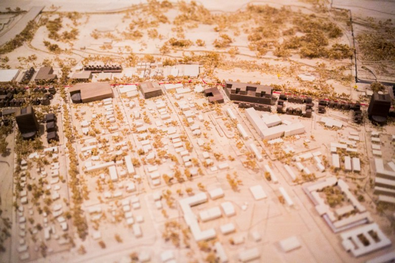 A model of Broadway St. build in 2000as an example of what the street could look like. Photo by Kathryn Boyd-Batstone
