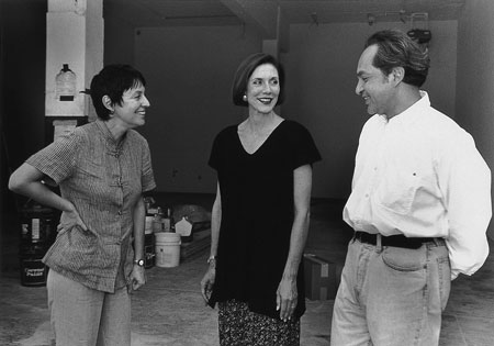 (From left) Annette Messager, Pace and Jesse Amado during the first Artpace residency in 1995. Courtesy image.