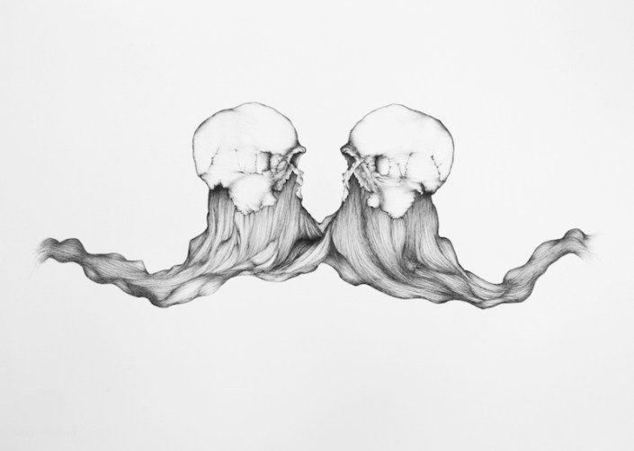 Forever is Longer Than Us, 2012, ink on paper. Image Courtesy of Kristy Perez.