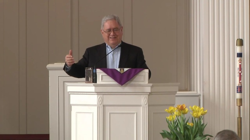 Fr. Virgilio P. Elizondo, then professor at the University of Notre Dame, delivers a keynote address for the 2014 Nyvall Lecture at North Park Theological Seminary. Image via YouTube.