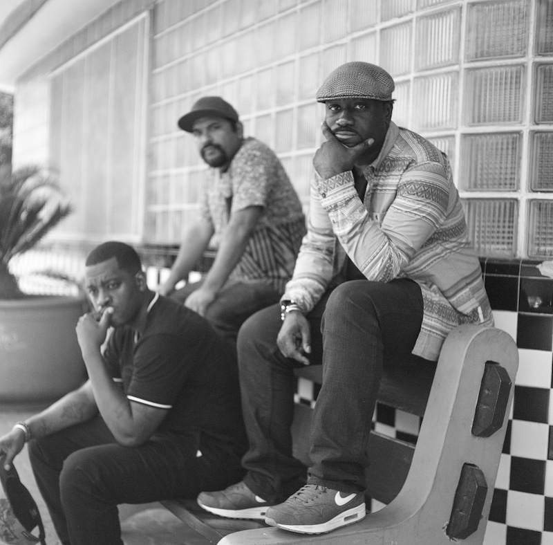 From left: Easy Lee , MexStep, DJ Chicken George. Photo by Josh Huskin, courtesy of Third Root.