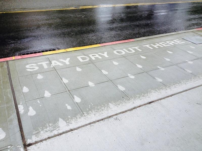 Rainworks installation in Seattle. Photo courtesy of Rainworks.