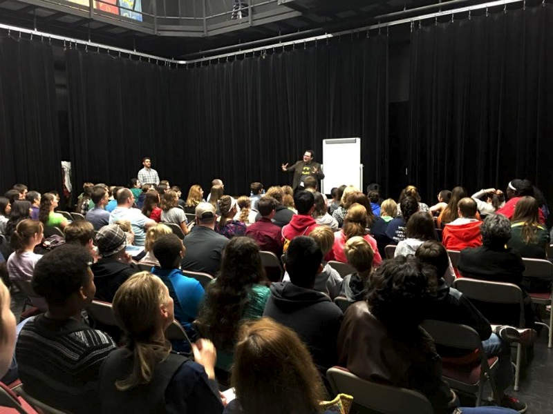 Author Brandon Sanderson spoke about the creative process of writing a story to a standing room-only crowd during his breakout session. Photo by Sheryl Stoeck