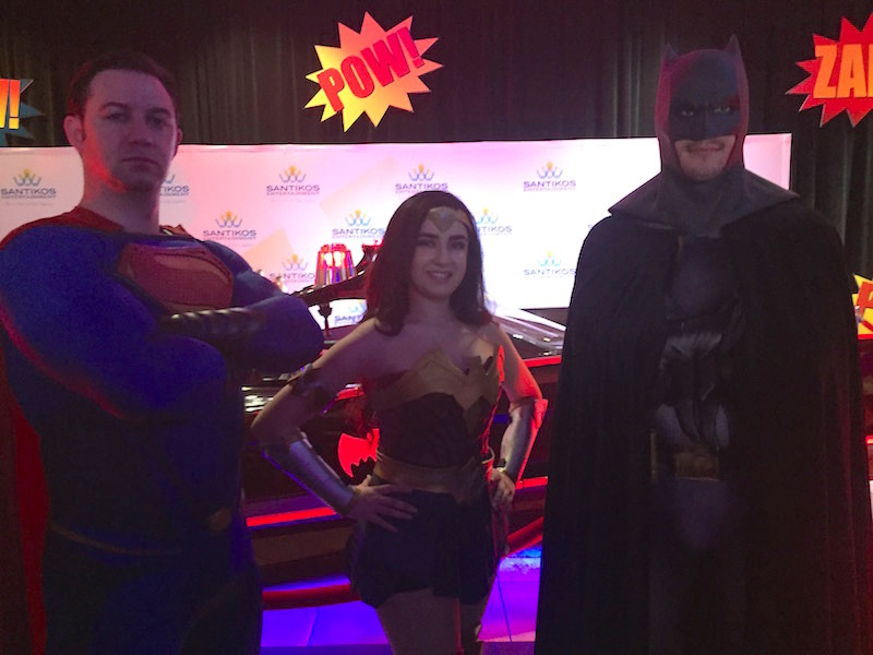 Comicon actors portraying Superman, Wonder Woman and Batman. Photo by Robert Rivard