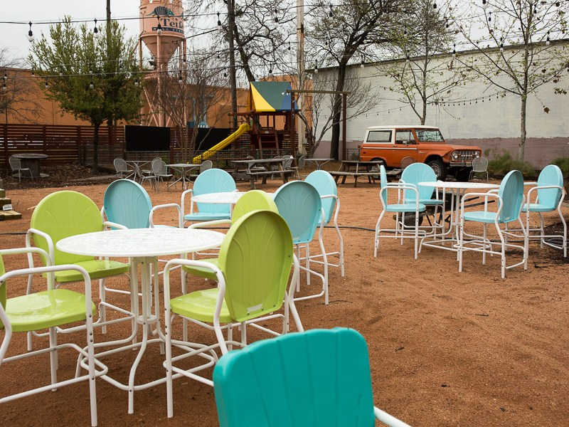 A portion of the outdoor area at Burleson Yard. Photo by Scott Ball.